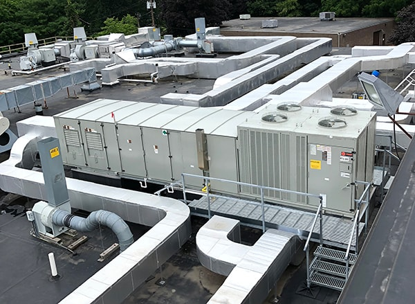 Industrial HVAC RTU Installation